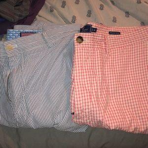 """(2) Vineyard Vines Seersucker Men's Shorts 38"""""""